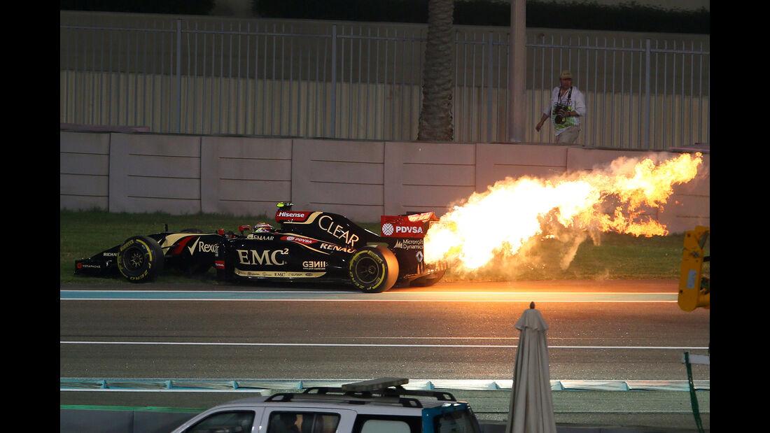 Pastor Maldonado - Lotus - GP Abu Dhabi 2014