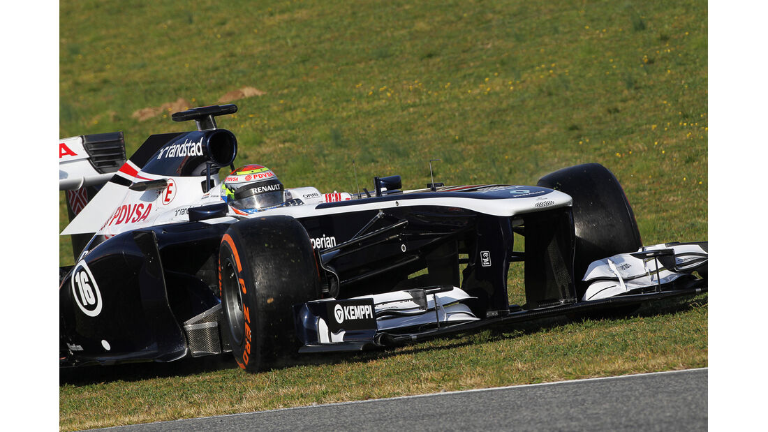 Pastor Maldonado Williams F1 Test Barcelona 2013
