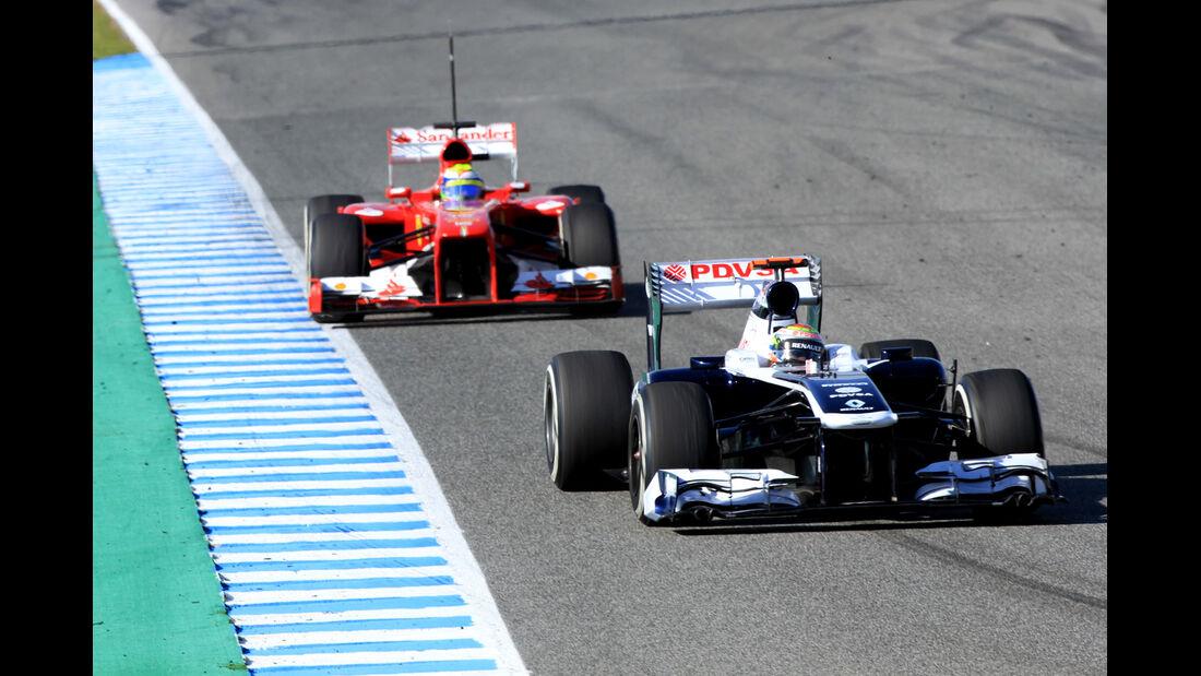 Pastor Maldonado, Williams, Felipe Massa, Ferrari, Formel 1-Test, Jerez, 6.2.2013
