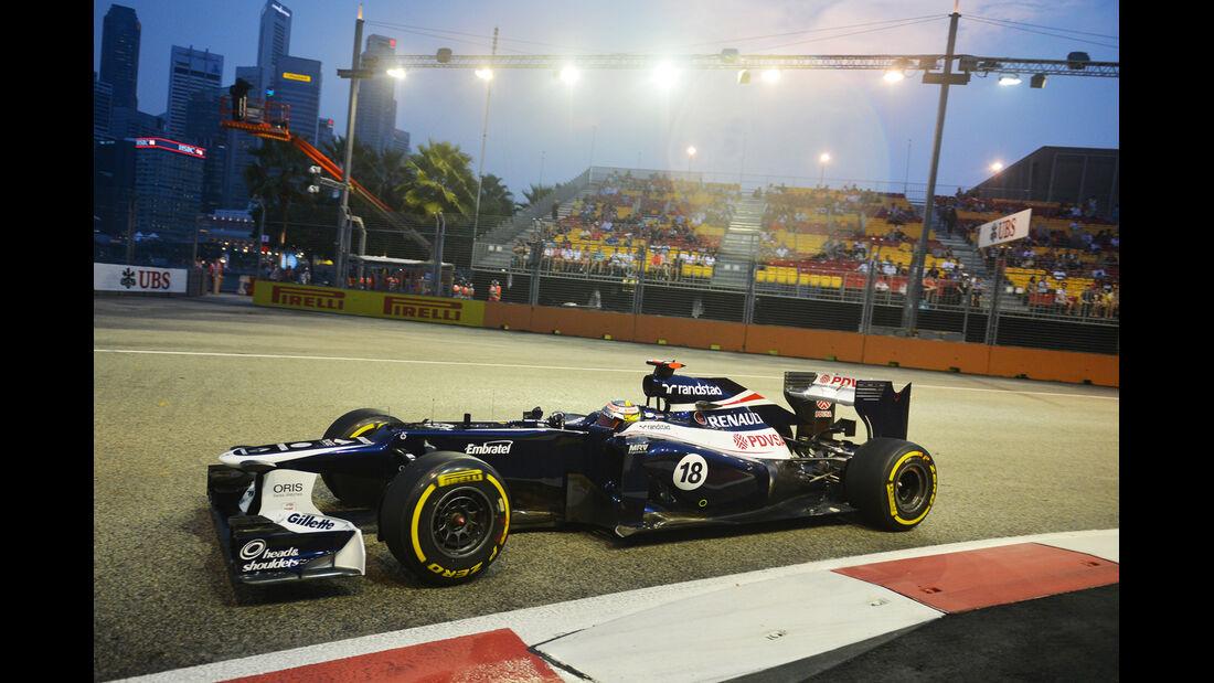Pastor Maldonado - Williams - Formel 1 - GP Singapur - 21. September 2012