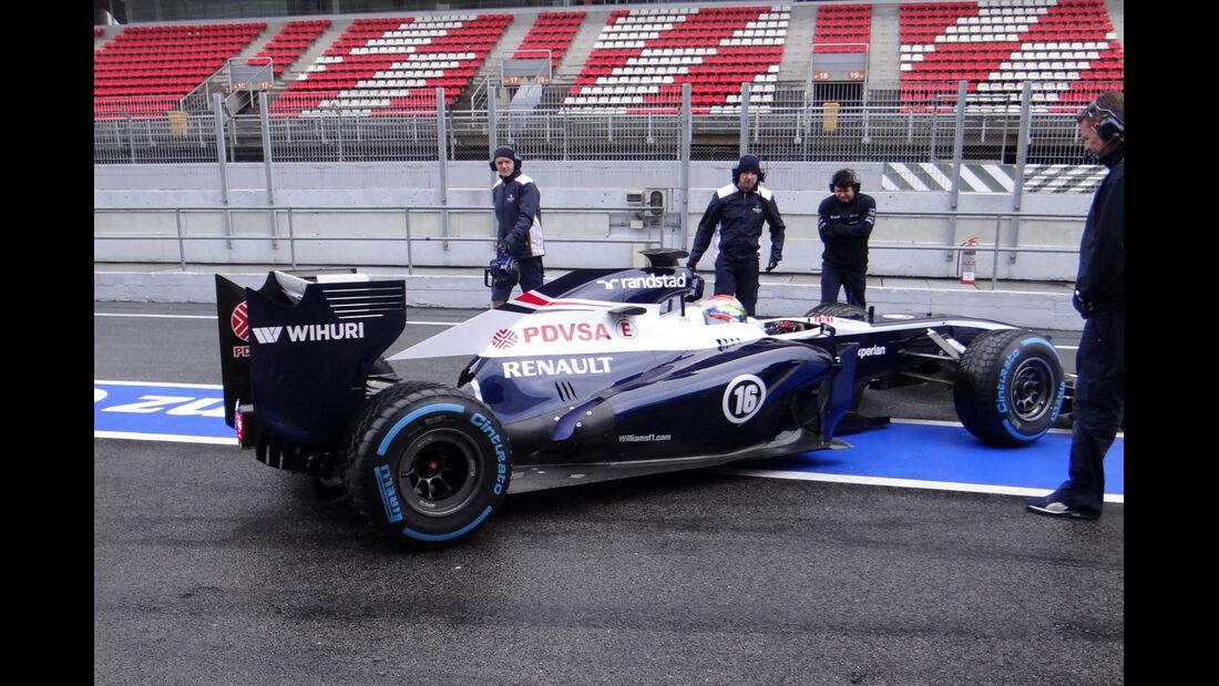 Pastor Maldonado - Williams - Formel 1 - Test - Barcelona - 1. März 2013