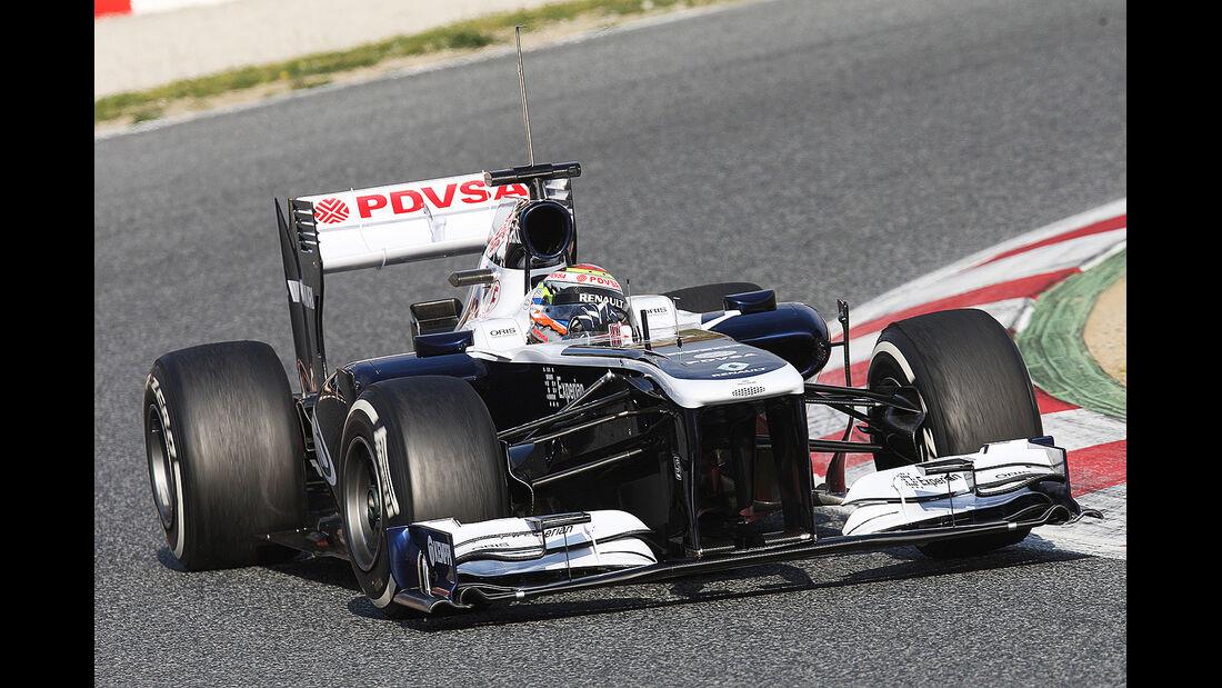 Pastor Maldonado, Williams, Formel 1-Test, Barcelona, 19.2.2013