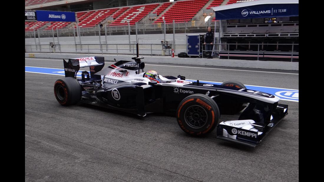 Pastor Maldonado - Williams - Formel 1 - Test - Barcelona - 19. Februar 2013
