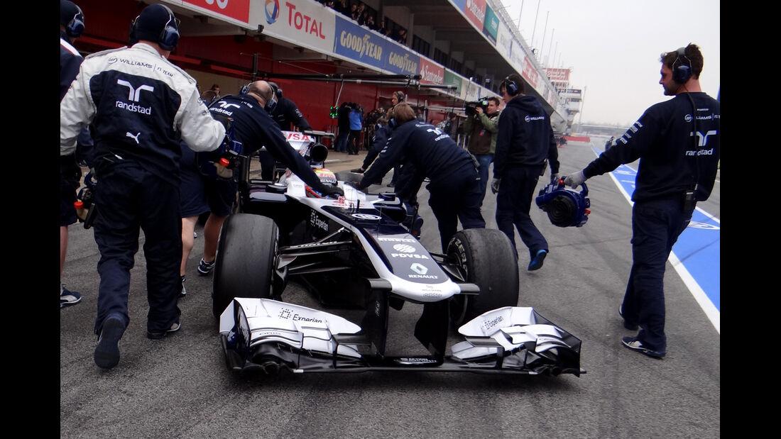 Pastor Maldonado - Williams - Formel 1 - Test - Barcelona - 21. Februar 2013