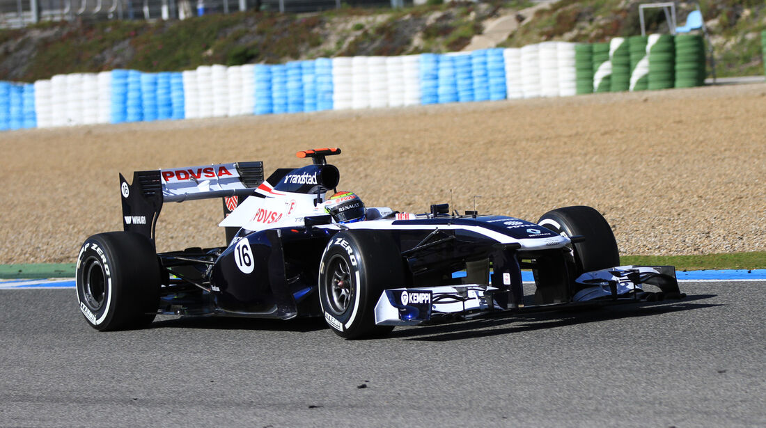 Pastor Maldonado, Williams, Formel 1-Test, Jerez, 6.2.2013