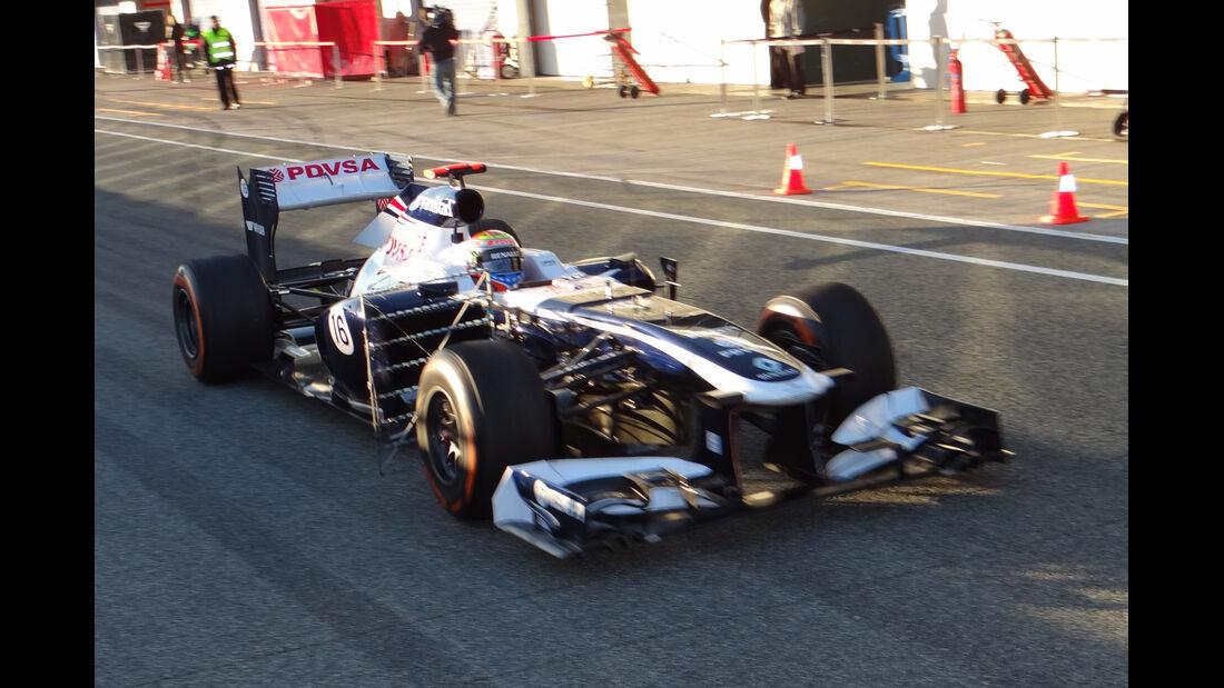 Pastor Maldonado - Williams - Formel 1 - Test - Jerez - 6. Februar 2013