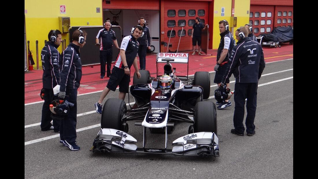 Pastor Maldonado - Williams - Formel 1-Test - Mugello - 3. Mai 2012