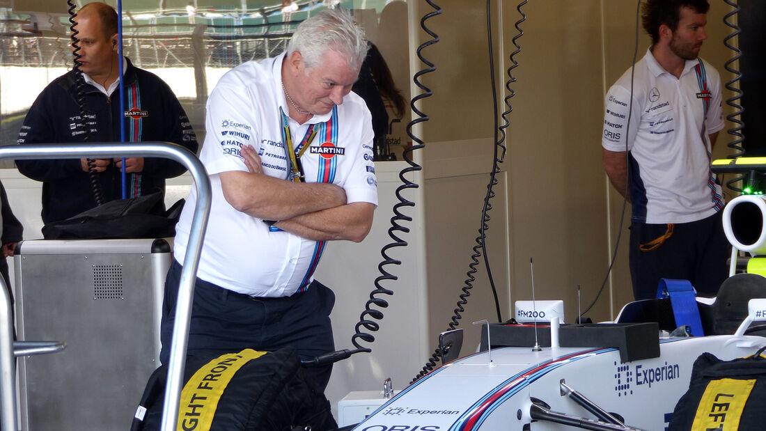 Pat Symonds - Williams - Formel 1 - GP England  - Silverstone - 4. Juli 2014