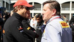 Paul Hembery und Jenson Button
