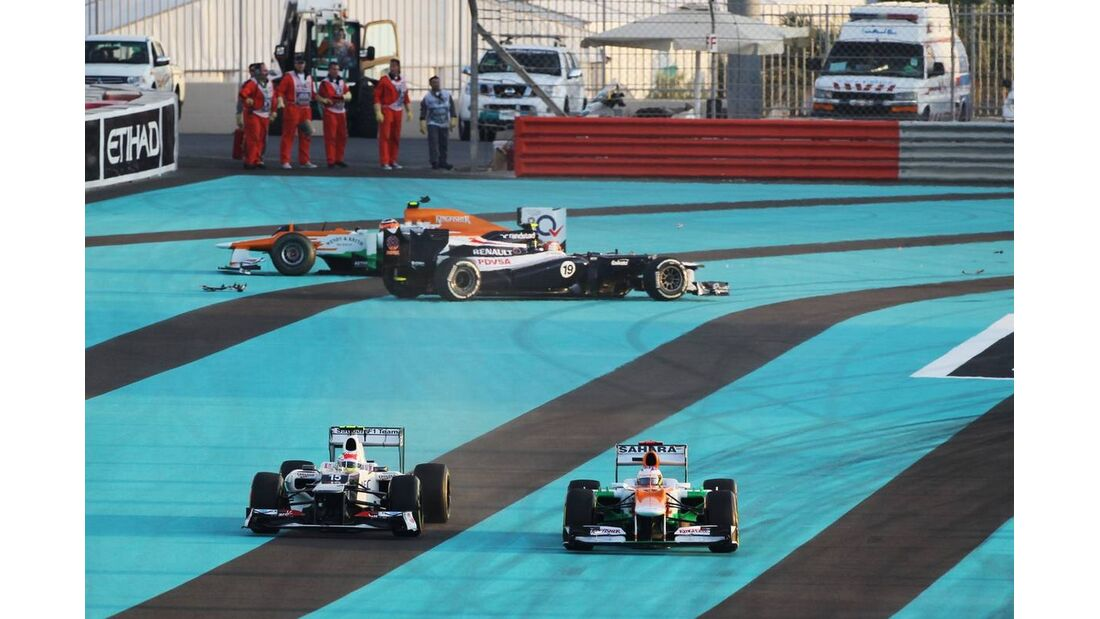 Paul di Resta Bruno Senna Nico Hülkenberg  - Formel 1 - GP Abu Dhabi - 04. November 2012