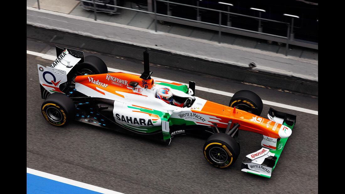 Paul di Resta, Force India, Formel 1-Test, Barcelona, 19.2.2013