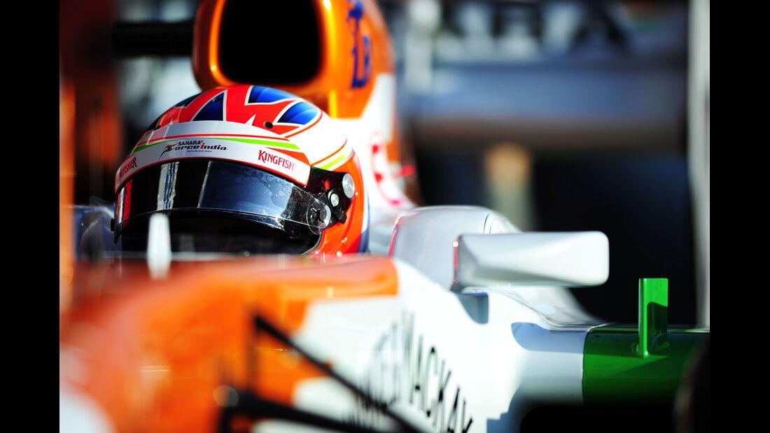 Paul di Resta, Force India, Formel 1-Test, Barcelona, 20. Februar 2013