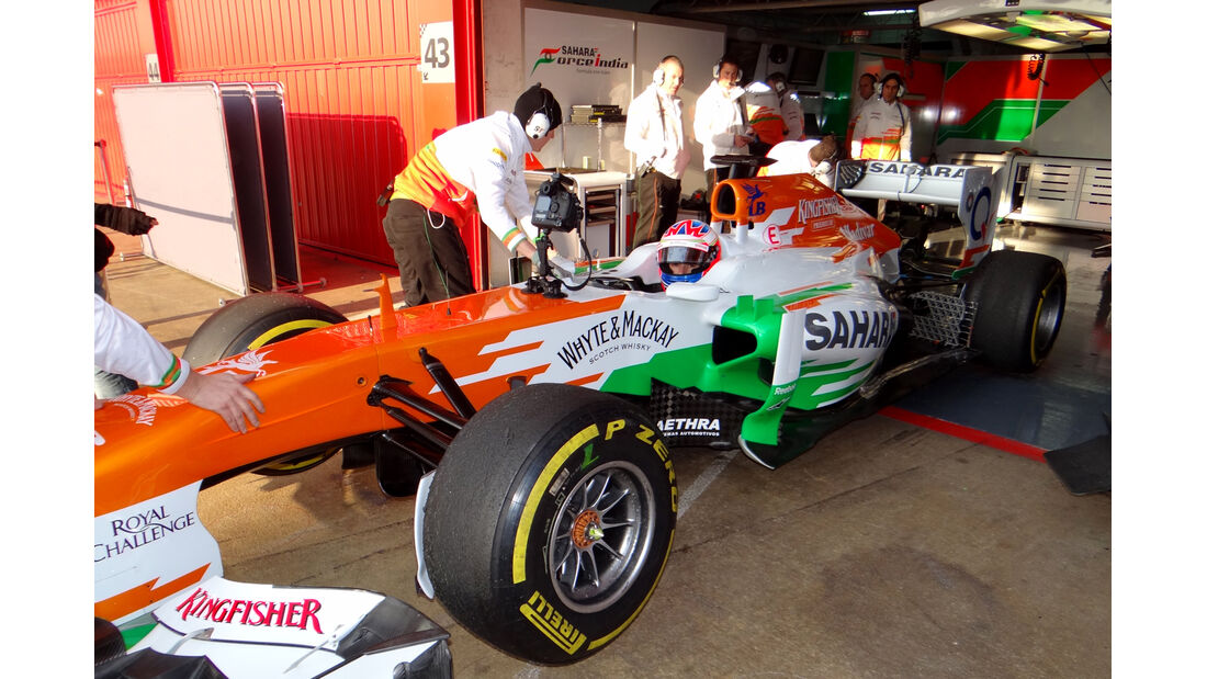 Paul di Resta - Force India - Formel 1 - Test - Barcelona - 20. Februar 2013