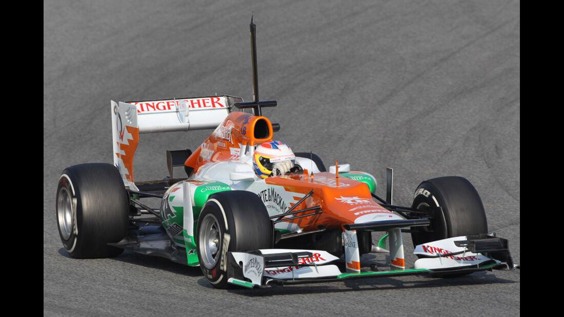 Paul di Resta - Force India - Formel 1-Test Barcelona - 3. März 2012