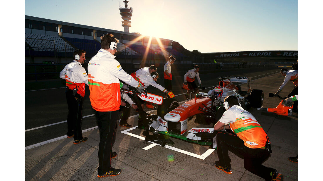 Paul di Resta, Force India, Formel 1-Test, Jerez, 6.2.2013
