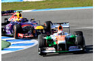 Paul di Resta, Force India, Mark Webber, Red Bull, Formel 1-Test, Jerez, 6.2.2013