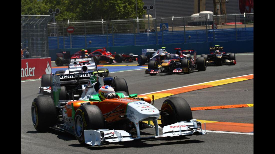 Paul di Resta GP Europa Valencia 2011
