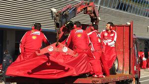 Pedro De la Rosa, Ferrari, Formel 1-Test, Jerez, 8. Februar 2013