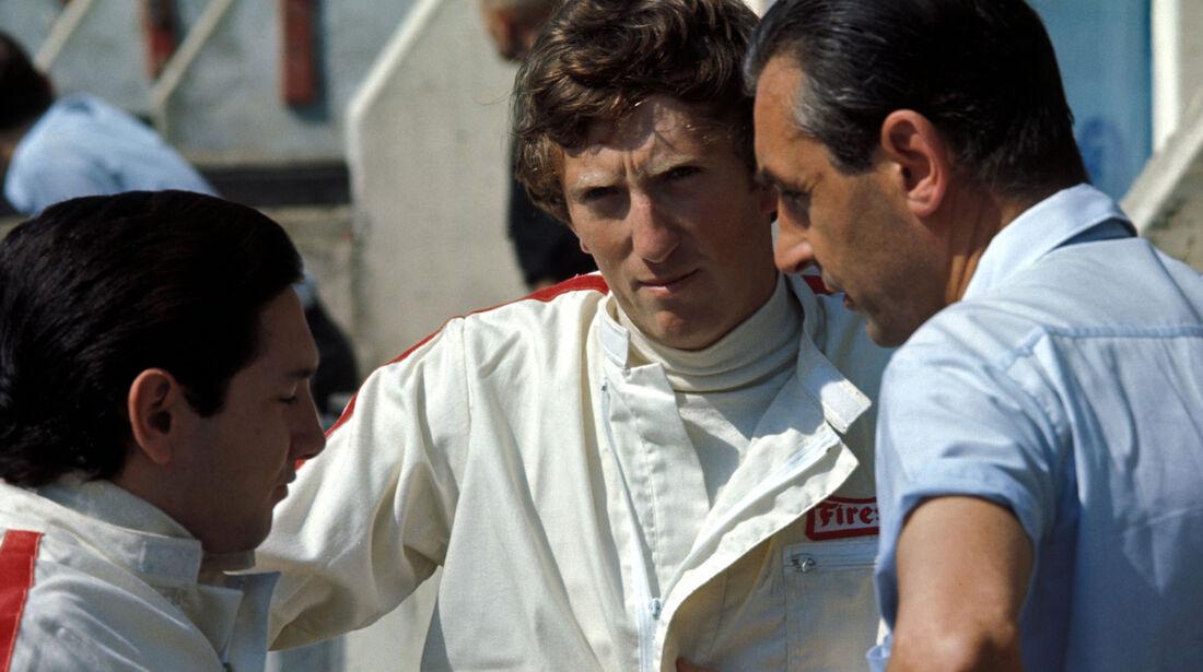 Pedro Rodriguez - Jochen Rindt - Roy Salvadori - GP Frankreich 1967 - Bugatti Circuit