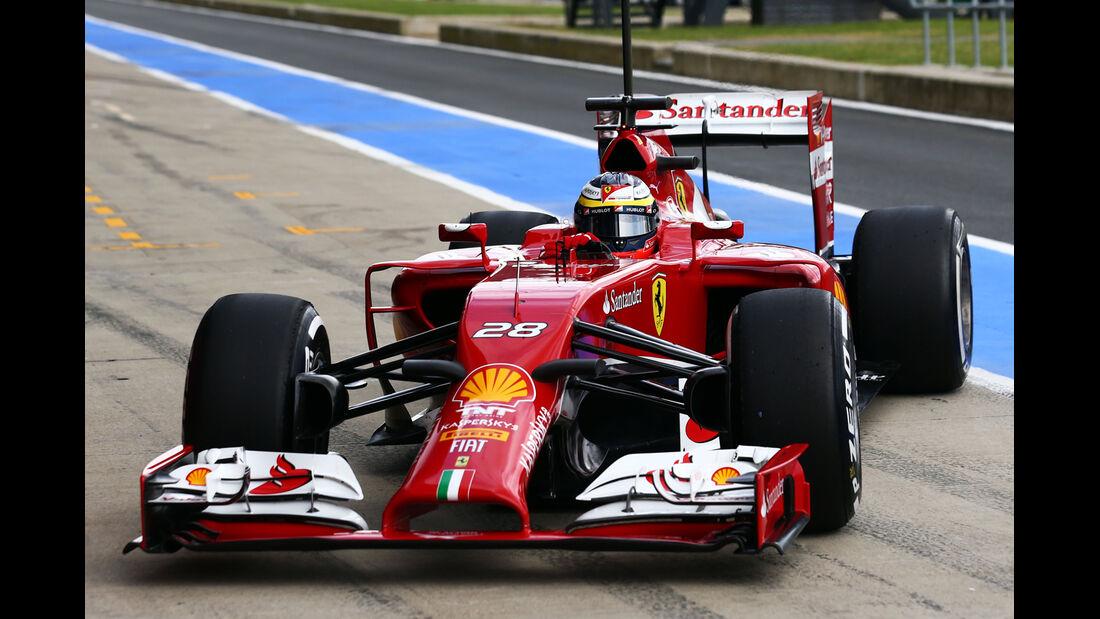 Pedro de la Rosa - Ferrari - Formel 1-Test - Silverstone 2014