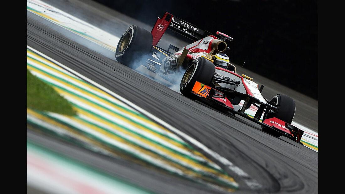 Pedro de la Rosa - HRT - Formel 1 - GP Brasilien - Sao Paulo - 24. November 2012