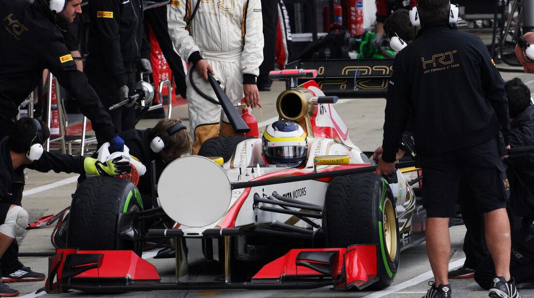 Pedro de la Rosa HRT GP England 2012