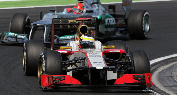 Pedro de la Rosa Michael Schumacher GP Ungarn 2012
