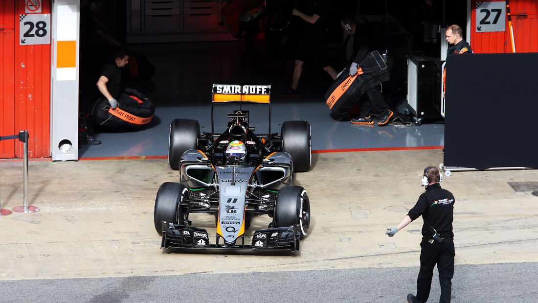 Perez - Force India - Barcelona Test 2 - 2015