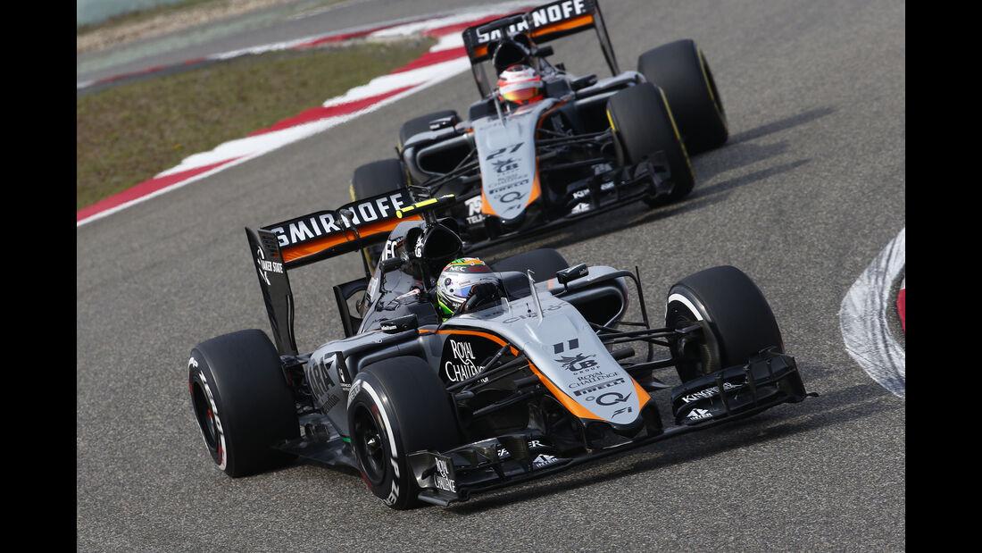 Perez & Hülkenberg - Force India - Formel 1 - GP China - Shanghai - 10. April 2015