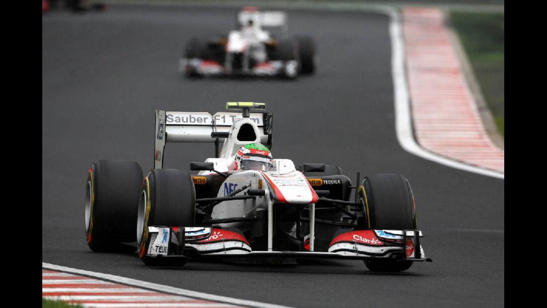 Perez - Noten - GP Ungarn - Formel 1 - 31.7.2011