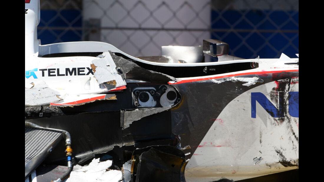 Perez Wrack GP Monaco 2011