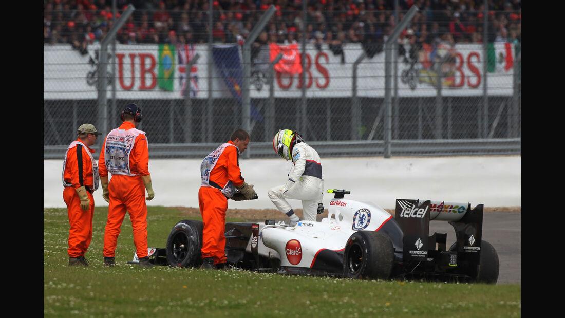 Perez vs. Maldonado GP England Silverstone 2012