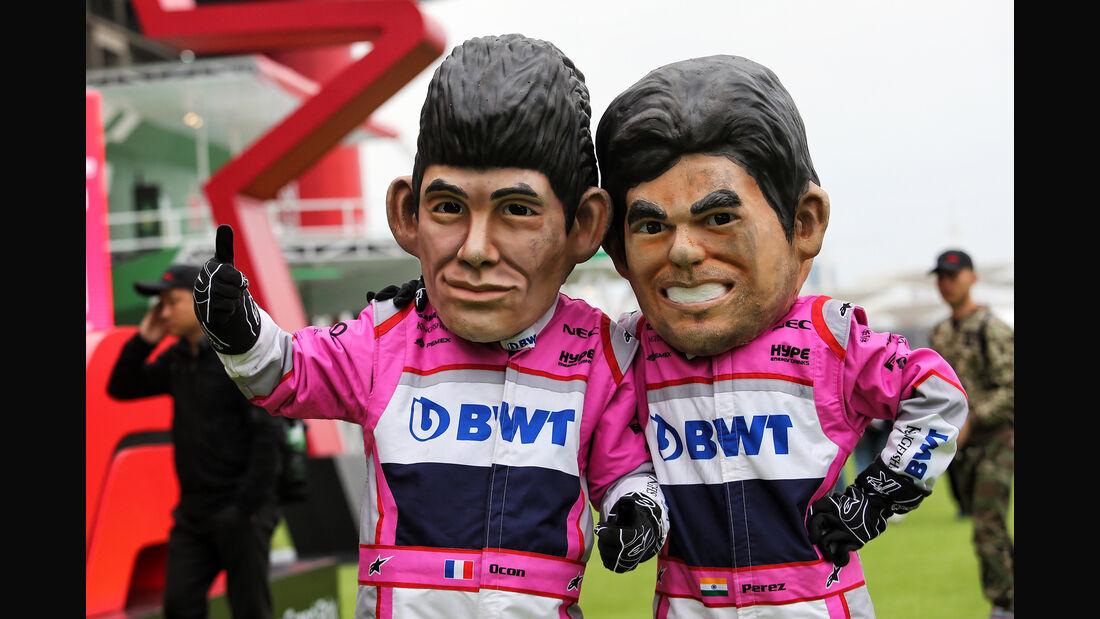 Perez vs. Ocon - Formel 1 - GP China - Shanghai - 14. April 2018