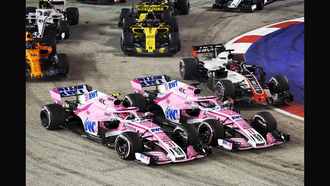Perez vs. Ocon - GP Singapur 2018