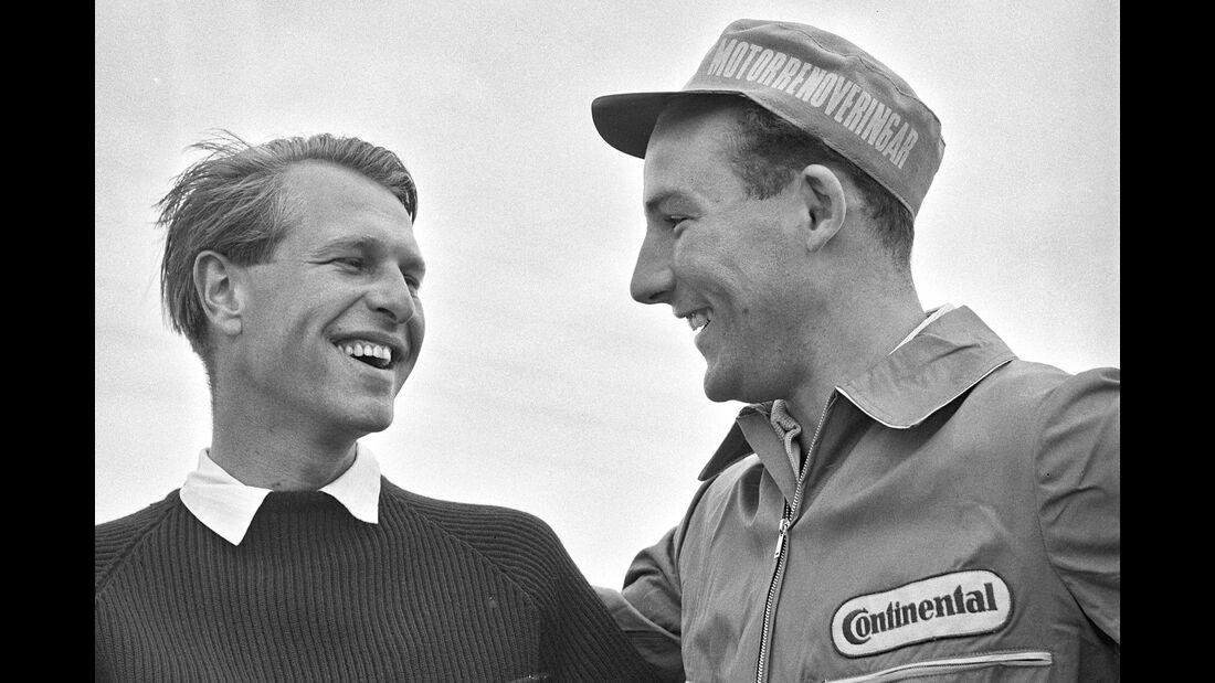 Peter Collins - Ferrari - Stirling Moss - GP Deutschland 1958 - Nürburgring