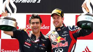 Peter Prodromou & Sebastian Vettel - GP Spanien 2011