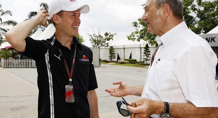 Peter Sauber & Sebastian Vettel