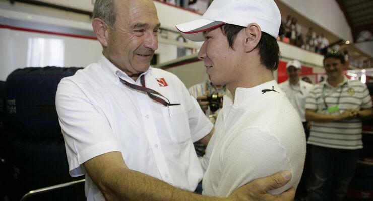 Peter Sauber und Kamui Kobayashi