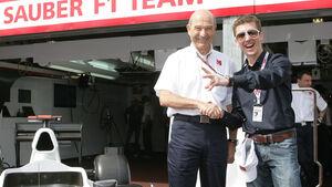 Peter Sauber und Simon Ammann