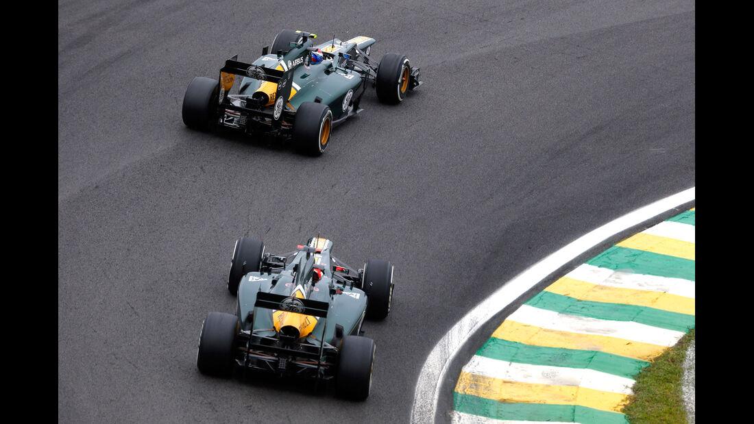 Petrov Kovalainen Caterham GP Brasilien 2012