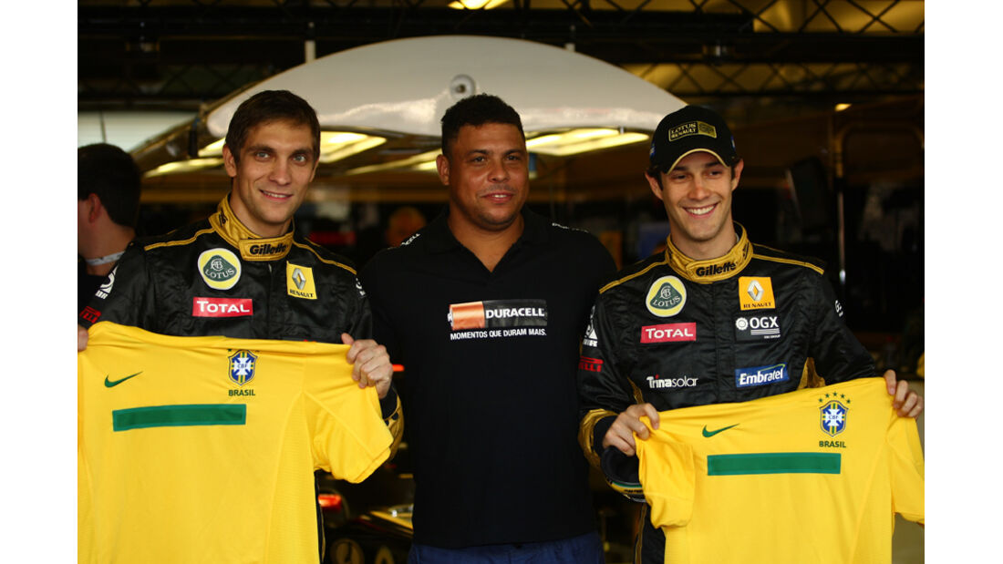 Petrov, Ronaldo, Senna GP Abu Dhabi 2011