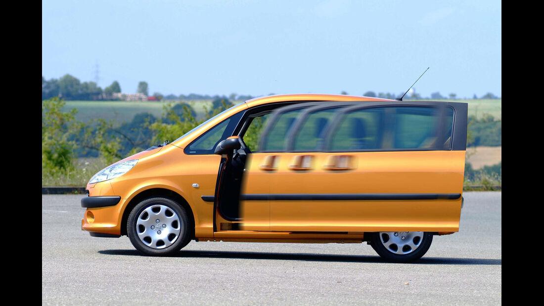 Peugeot 1007, Seitenansicht