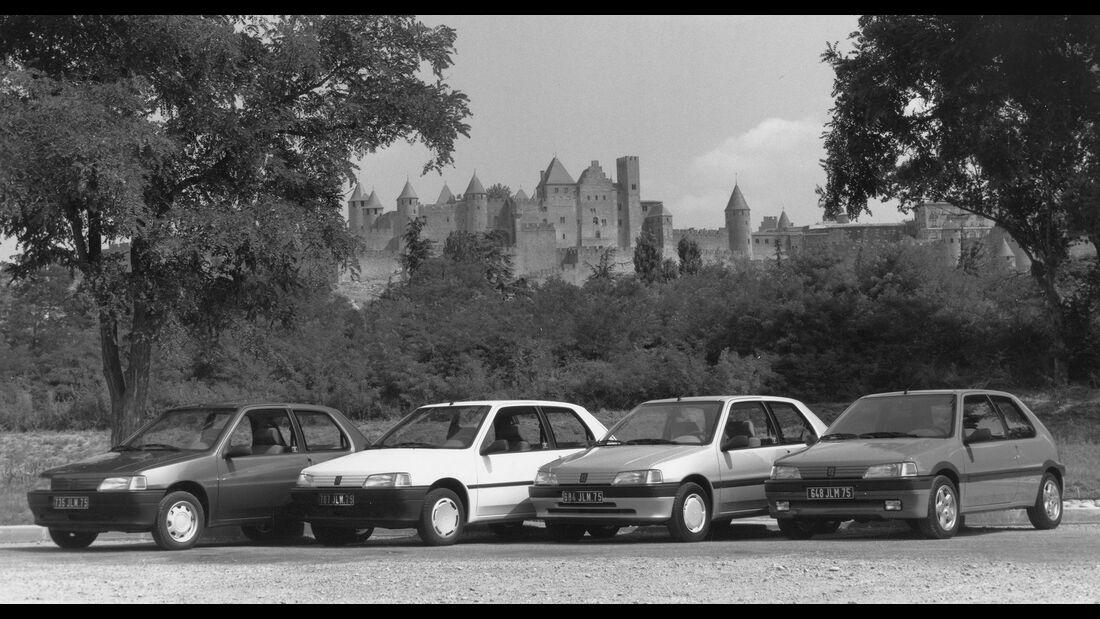 Peugeot 106 Modellprogramm (1991)