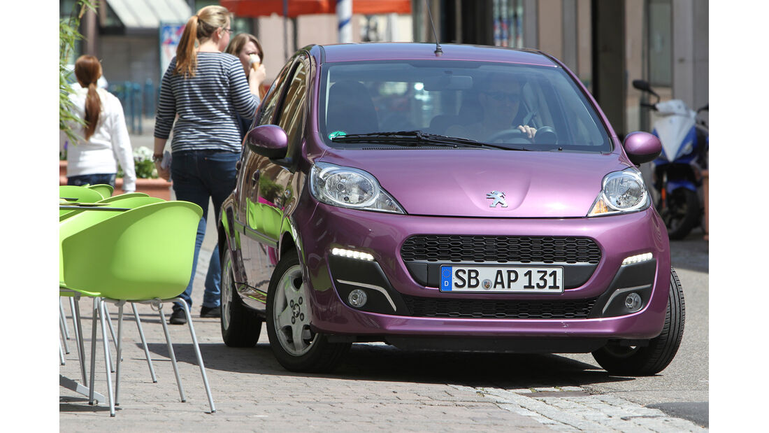 Peugeot 107 1.0 2-tronic, Frontansicht