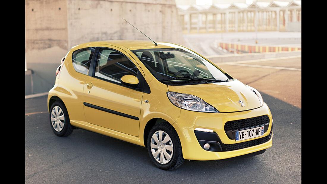 Peugeot 107, facelift, Modelljahr 2012