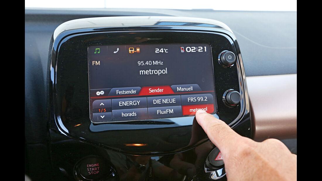 Peugeot 108 e-VTi 68, Bedienelemente, Monitor