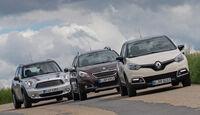 Peugeot 2008 120 VTi, Renault Captur TCe 120, Mini Cooper Countryman