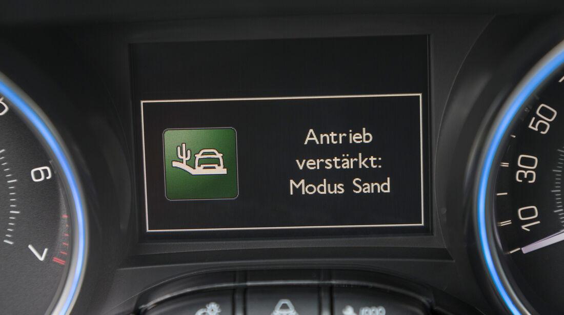 Peugeot 2008 120 Vti, Anzeige, Display