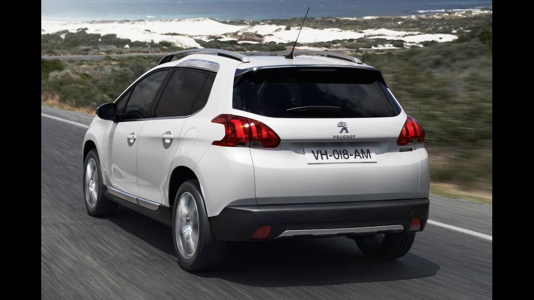Peugeot 2008, Heckansicht