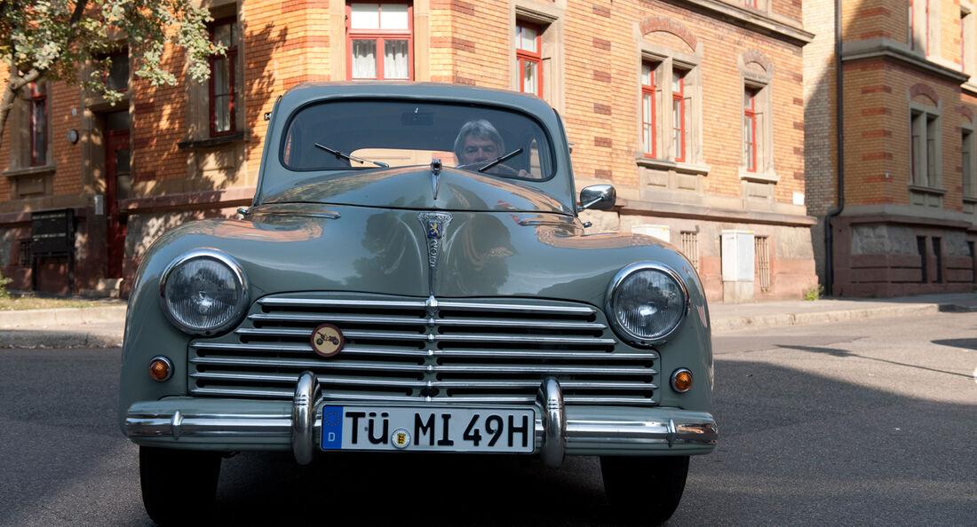 Peugeot 203, Frontansicht, Kühlergrill